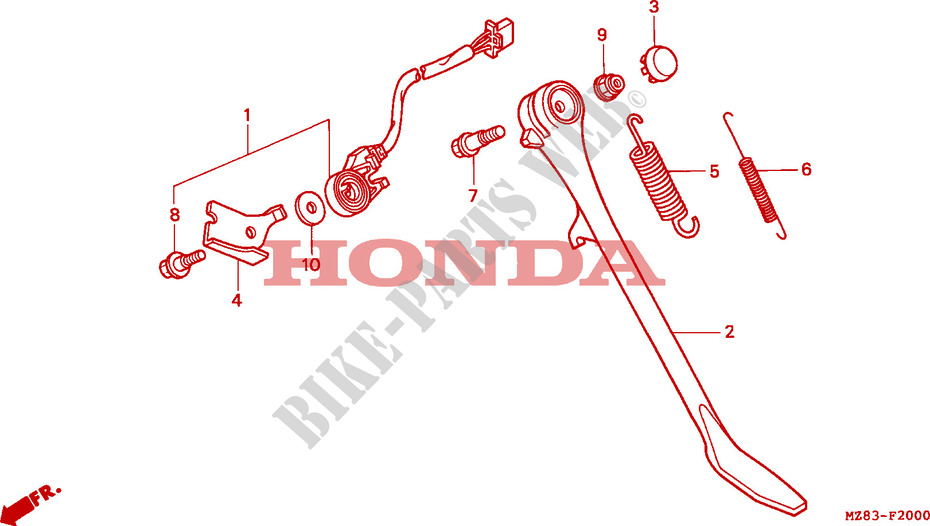 Honda MOTO 600 VT 1996  VT600CT Chassis BEQUILLE