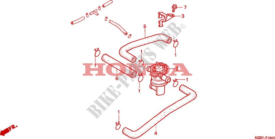 VT600C : A quoi sert ce tube? / Clapet injection d'air / système dépollution  F__1602