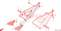 COUVERCLE LATERAL Chassis 250 honda-moto CBF 2004 F__1500