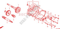 BOITE DE VITESSES pour Honda SH 125 REAR DISK BRAKE AND TOP BOX de 2010
