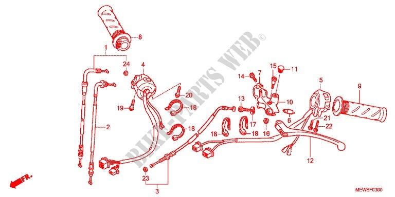 Deauville 700 : utilité du trou fileté dans le support de levier d'embrayage ? LEVIER-DE-GUIDON--CABLE--COMMODO-Honda-MOTO-700-DEAUVILLE-2011-NT700VAB-F_03