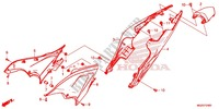 COUVERCLE LATERAL/CAPOT ARRIERE Chassis 500 honda-moto CB 2013 F_24