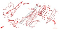 COUVERCLE LATERAL Chassis 250 honda-moto CRF 2013 F_24