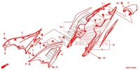 COUVERCLE LATERAL/CAPOT ARRIERE Chassis 500 honda-moto CB 2014 F_24