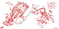 GARDE-BOUE ARRIERE Chassis 500 honda-moto CB 2014 F_34
