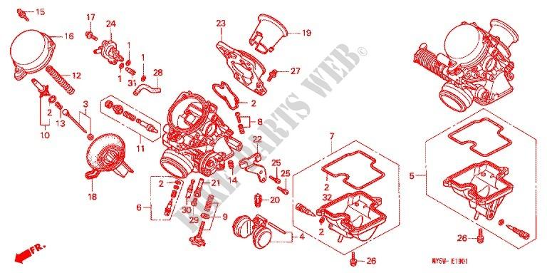 CB 500  PC26 AM 1993 prépa piste - Page 3 CARBURATEUR-PIECES-CONSTITUTIVES-Honda-MOTO-500-CB-1999-CB500SX-E_19_1