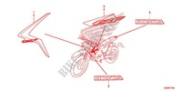 MARQUE Honda moto microfiche diagrame CRF125FBH 2017 CRF 125 F GRANDES ROUES