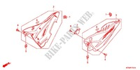 COUVERCLE LATERAL (2) Chassis 125 honda-moto CBF 2015 F_17_1