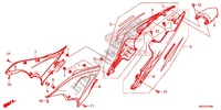 COUVERCLE LATERAL/CAPOT ARRIERE Chassis 500 honda-moto CBR 2013 F_24