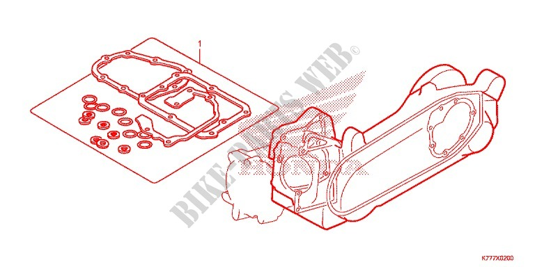 POCHETTE DE JOINTS B pour Honda SH 125 ABS D TOP BOX de 2018