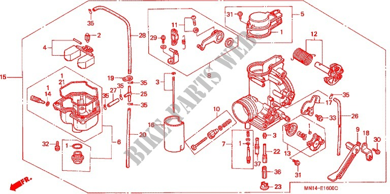 BGTR Accessoires Moto Compatible for Honda XR600R 1988-2000 XR 600 xR600 R Carburateur de Moto Kit de r/éparation de carburateur Flottant Pi/èces de Joint daiguille Flottante